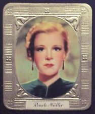 Renate Müller 1936 Garbaty Passion Film Star Embossed Cigarette Card #61