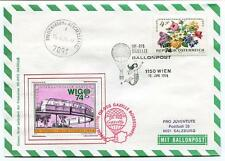 1974 Ballonpost WIG 74 Pro Juventute Aerostato OE-DZG Gazelle Int. Gartenschau