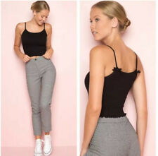 Brandy Melville black cropped Crop smocked izzy tank top NWT XS/S