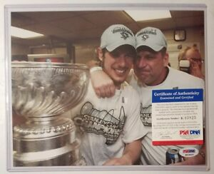 SIDNEY CROSBY Signed  AUTOGRAPHED STANLEY CUP 8x10 PHOTO + PSA COA PSA/DNA SWEET