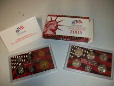 2005 US Mint 90% Silver Proof Set Complete Coins w/ Quarters Box
