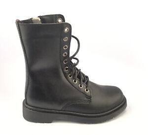 Demonia Men's  Defiant 200 Boot Black Vegan Faux Leather Size 8 M