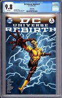 DC Universe Rebirth #1 CGC 9.8 White Pages 2016 3742731012 3rd Print