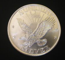 1986 Sunshine Mining 1 Troy OZ .999 Fine Silver Round