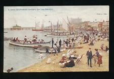 Essex SOUTHEND-ON-SEA On the Beach animated scene 1921 PPC by Photochrom