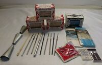 Lot Of Vintage Sewing Knitting Crocheting Weaving Supplies