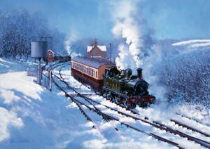 GWR Severn Valley Railway 14xx Tank Engine Steam Train Blank Christmas Card
