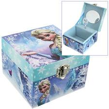 GIRLS CHILDRENS DISNEY FROZEN THEMED ELSA MUSICAL JEWELLERY BOX TRINKET KEEPSAKE