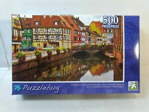 Puzzlebug Colorful Street With Half-Timbered Houses Jigsaw Puzzle gm1482