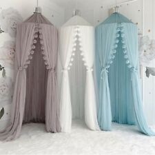 Baby Girls/boys Unisex Bed White canopy Bedcover Net Curtain Bedding Dome Tent