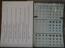 1/72 Microscale USAF TAC SQUADRON BADGES (94 emblems) *Partial Decal OOP
