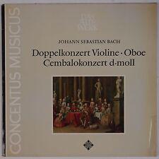 BACH: Double Concert, Harnoncourt, Schaeftlein TELEFUNKEN NM Vinyl LP