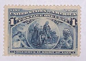 Travelstamps:1893 US Stamps Scott # 230, In Sight of Land, mnh, mint, og, 1 cent