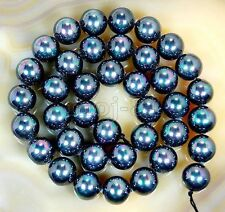 10mm Natural Multicolor Black Mother Of Pearl Shell Round Loose Beads 15'' AAA