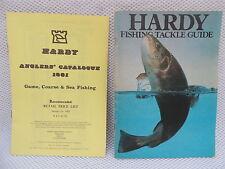 1981 HARDY FISHING TACKLE guide/catalogue + liste de prix.