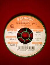 1mm LÖTZINN 4 % SILBER 10Gramm STANNOL BLEIFREI