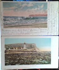 Lot of 2, Point Loma, SAN DIEGO, CALIFORNIA, Post Card 1902 LIGHT HOUSE, RPO