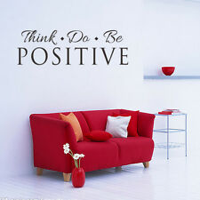Think Do Be Positive Wall Decals Vinyl Sticker DIY Quote Yoga Room Home Decor