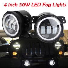 2x Led Fog Lights 4inch 30W For Jeep Wrangler Tj Jk Unlimited Sport Sahara New