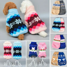 Pet Dog Knitted Jumpsuit Warm Winter Sweater Coat Puppy Vest Jacket Clothes Sy