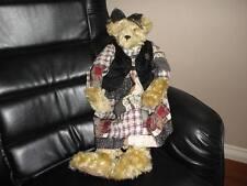 1990s KNICKERBOCKER Usa Teddy Bear MARY MOCHA KNUT 2 Feet Tall - 61cm