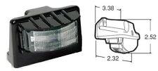 Truck LITE 24 LED Lámpara de número de placa Placa Kit de Luz Camión Remolque TL/15043 Negro