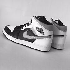 Nike Air Jordan 1 Mid White Shadow UK 9 US 10 EUR 44 Black White LT Smoke Grey