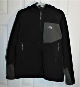 The North Face Kids-Boys-Black Zip Front Hooded Jacket, Size 14-16, EUC