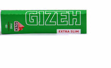 10 BOOKLETS GIZEH EXTRA SLIM CIGARETTE ROLLING PAPERS 66 pappers per booklet