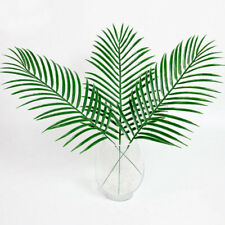 30Big Green Palm-Leaves Plastic Fake Plant Artificial Leaf Clearance!