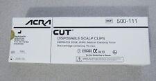 ACRA-CUT # 500-111 DISPOSABLE SCALP CLIPS, ONE CARTRIDGE, 15 CLIPS Exp. 2024/12