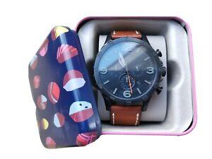 Fossil Nate JR1524 Armbanduhr für Herren - Batterie leer