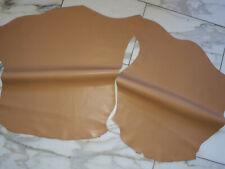 LEDER TIP 28880-F, Lederreste, 2 Lederhäute Konvolut, camelfarben nappa *