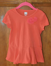 Girl's Coral Shirt Size 5T Old Navy Very Cute On with flower embellishments