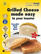 Toastabags Grilled Cheese Bags Reusable Toaster Bags - Can Heat Up Pizza DORMS
