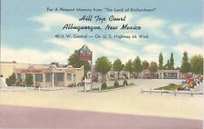 Postcard Hill Top Court Motel Route 66 Albuquerque NM C11