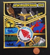 MIKANAKAWA LODGE OA 101 CIRCLE TEN COUNCIL 2-PATCH 2014 HIGH ADVENTURE GMY FLAP