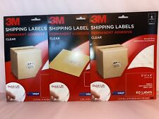 3m Shipping Labels Clear Permanent Adhesive Lot Of 3 1 2x 4 2 3 13 X 4
