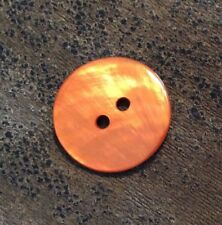 "BEAUTIFUL BUTTONS #10082 ORANGE LARGE ROUND-2 HOLE--3/4""-- 10 PIECES"