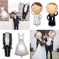 108*64cm Jeune Marié Combinaison Mariage Mariée Ballon en aluminium Décoration