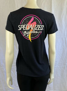 Specialized Bicycles Black T Shirt, Junior Girls Size Large