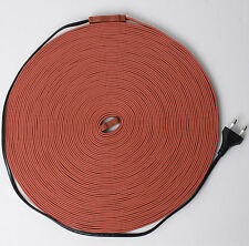 Silicone Heater Cable Anti-Frost Frozen Pipe Defrost Cable 1,2,3,5,10,20,30m ve