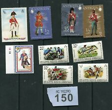 Set   stamps of   St Kitts and Antigua . Uniform