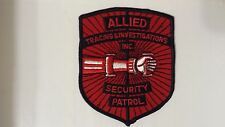 EMBROIDERED LARGE PATCH ALLIED TRACING & INVESTIGATIONS INC SECURITY PATROL NICE