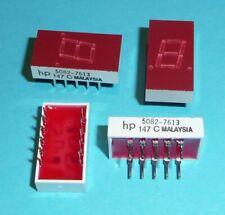 4 Stück Vintage HP 7 Segment Anzeige 5082-7613 7.6 mm Common Cathode Decimal