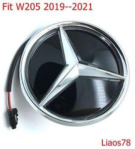 For Mercedes Benz C Class W205 Illuminated Mirror Star Front Emblem 2019-2021