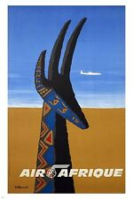 air afrique VINTAGE TRAVEL POSTER villemot MODERN ART prized 24X36 RARE hot