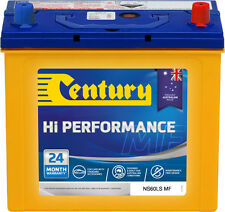CENTURY NS60LSMF HI PERFORMANCE BATTERY 24 MTHS NATIONAL WARR AUSTRALIAN MADE