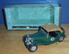 Matchbox Yesteryear Y8 MG TC Green #3 Black Seats Issue 6