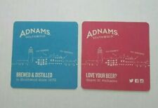 2 x ADNAMS NEW Southwold beer mats Double Sided 1 side blue the other pink